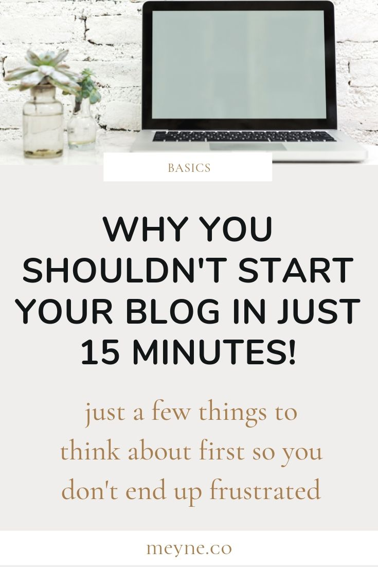 What to do before starting a blog