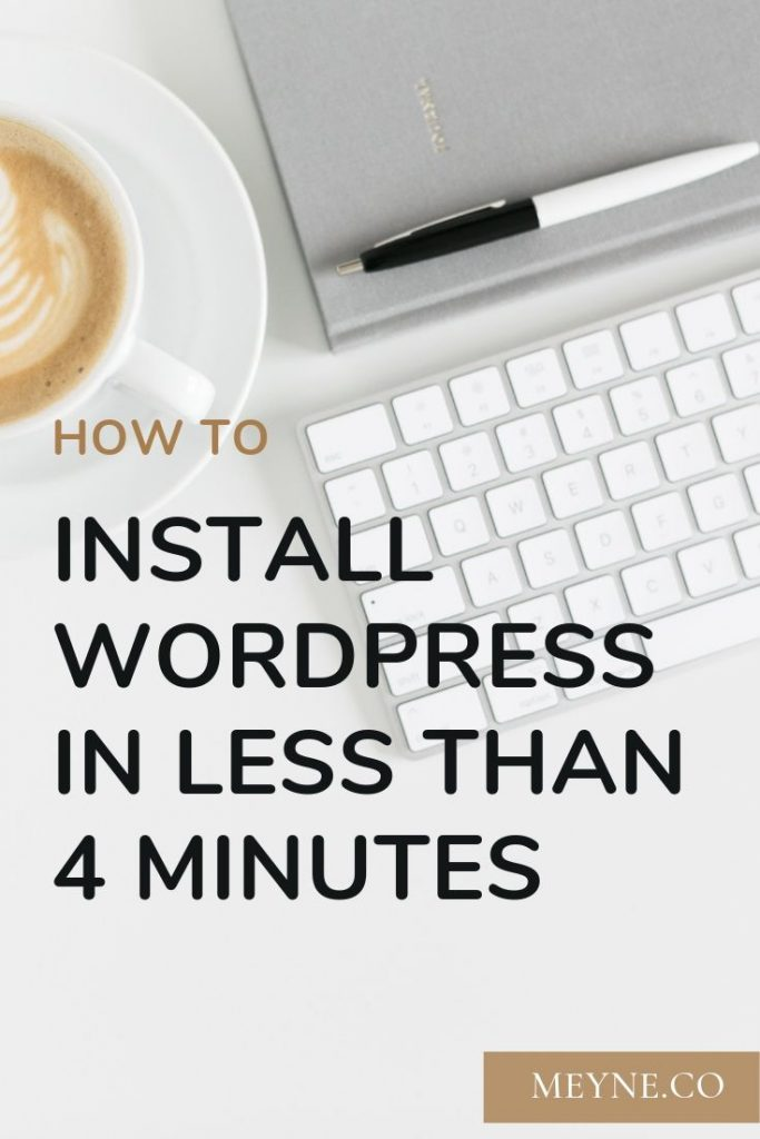 How to install WordPress in less than 4 minutes