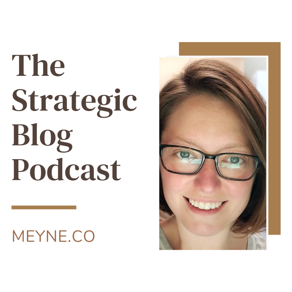 Cover art for the strategic blog podcast with christina orleans of meyne.co
