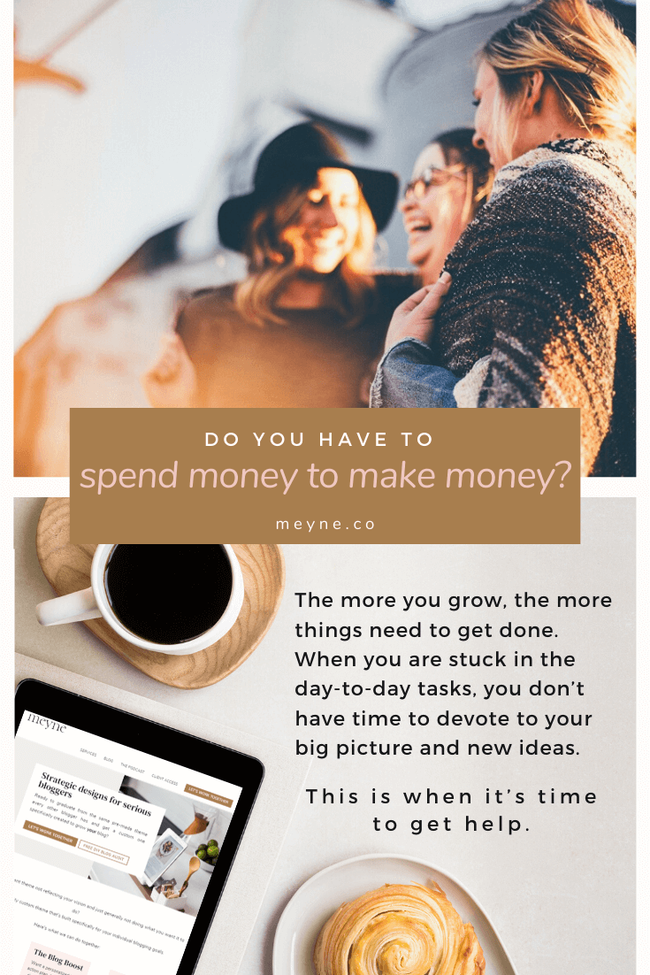 Do you have to spend money to make money?